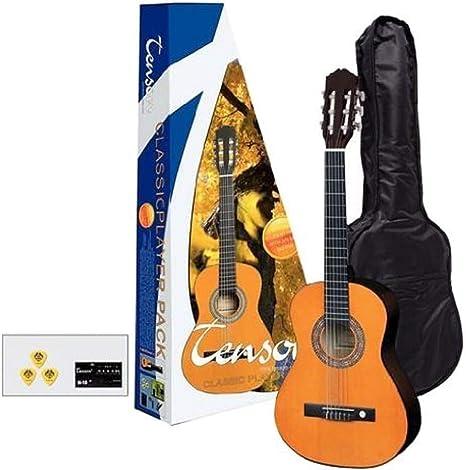 Tenson F502090 - Pack guitarra clásica 3/4, color miel: Amazon.es: Instrumentos musicales