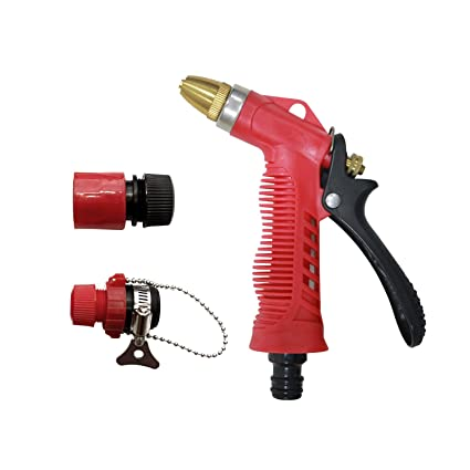 AquaHose Jet & Spray Function Water Spray Gun Set Red for Hose Parts
