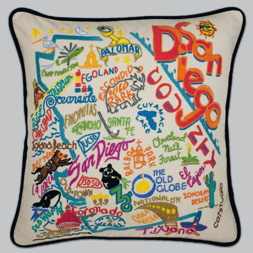 Catstudio San Diego Pillow - Geography Collection Home Décor 120(CS) by Catstudio Embroidered Pillow