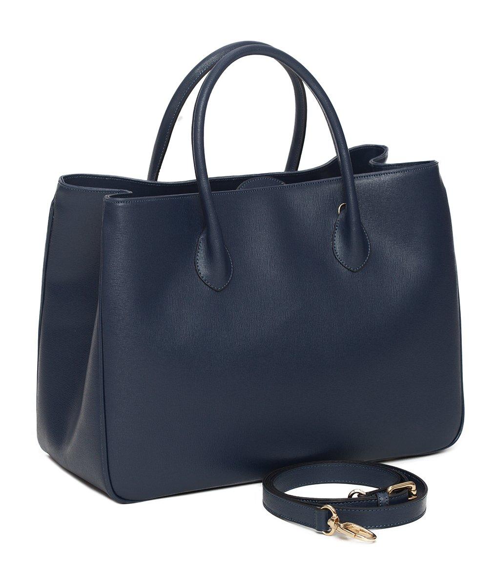 """4342646b245e9 Daybag """"L"""" Damen Handtasche Umhängetasche - Aktentasche Businesstasche Groß  Aus Edlem Leder Handgefertigt In Italien - Mit Toller Innenaufteilung  Elegant ..."""