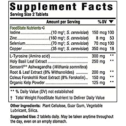MegaFood - Thyroid Strength, Helps to Maintain Already Healthy Cholesterol Levels, 90 Tablets (FFP)