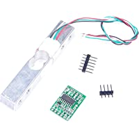 LIVISN 10kg Load Cell and HX711 Combo Pack Kit - Load Cell Amplifier ADC Weight Sensor for Arduino Scale - Everything…