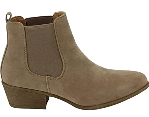 LDiva Couture Boutique Womens Pointed Toe Chelsea Tan Boots ...