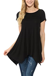df9ac7028d0 Shamaim Womens Long Sleeve Comfy Loose Fit Round Crew Neck Tunic Top ...