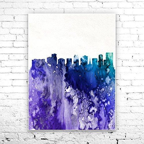 Amazon Com Orlando 2 Florida City Skyline Orlando Poster Orlando