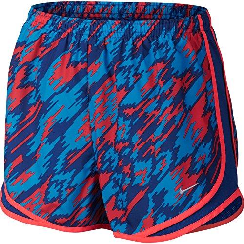 Nike Womens Dry Tempo Overdrive Printed Running Shorts (Lt Crimson/Deep Royal Blu, X-Small) ()
