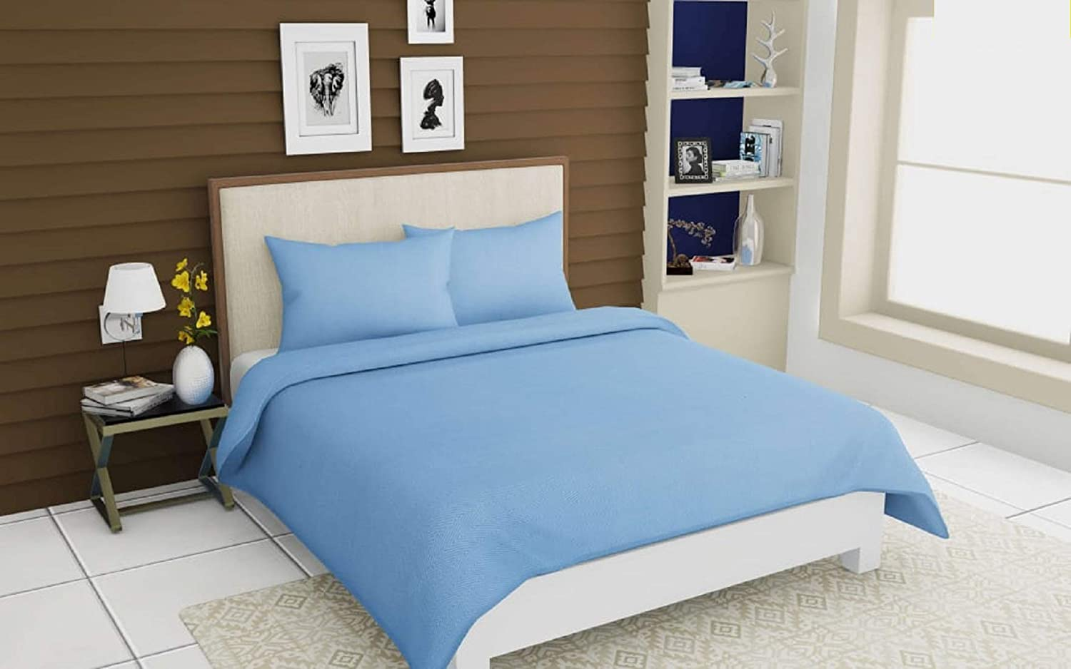 Double Bed Dimensions.Rrc Gless Cotton Double Bedsheet With 2 Pillow Covers Double Bed