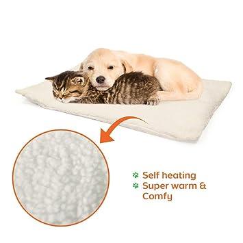 OneBarleycorn - Alfombrilla de Auto calefacción para Mascotas, Gatos, Perros y Gatitos para Viajes o casa, Color Blanco: Amazon.es: Productos para mascotas