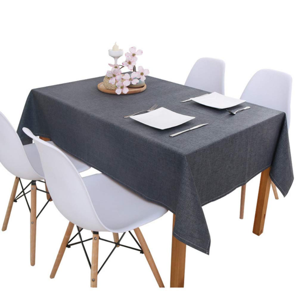 FENGDONG Linen Tablecloth Kitchen Table Multi Color Solid Waterproof Oilproof Color 01 130130cm by FENGDONGT