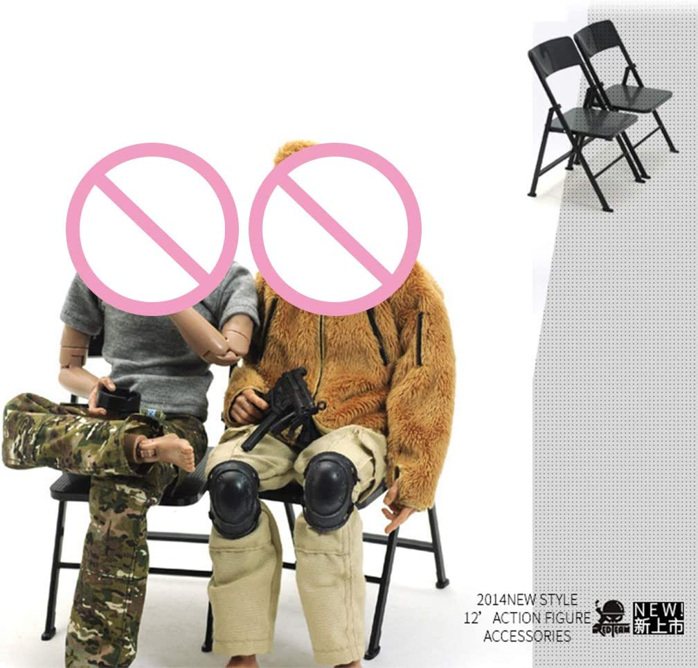 planuuik 1:6 Scale Chair Display for 12 Action Figure Miniature Dollhouse Accessories