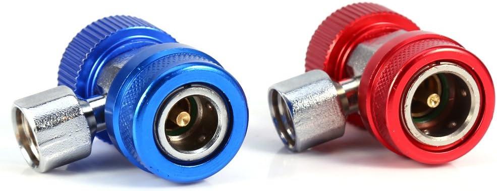 2pcs AC R134A Hoch Niedrig Einstellbar Schnellkupplung Steckeradapter Adapter Verbindungsst/ück Auto Wechselstrom Klimaanlagen Zubeh/ör Werkzeuge Justierbarer Schnellwechsler