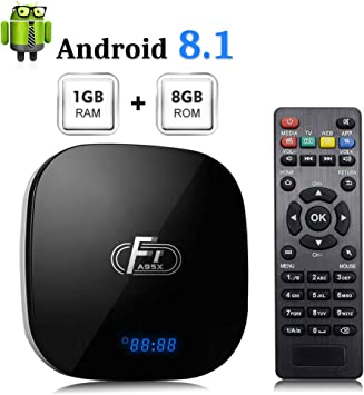 Android 8.1 TV Box, A95X F1 Smart Android 8.1 Box Amlogic S905W CPU Quad-Core Cortex-A53 1GB RAM 8GB ROM Compatible con 2.4GHz WiFi 3D 4K HDMI 2.0 100M LAN Ethernet: Amazon.es: Electrónica