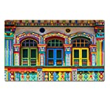 Luxlady Large TableMat IMAGE ID 31366426 Colorful facade of building in Little India Singapore
