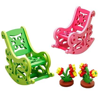Astounding Amazon Com B Blesiya 3D Wooden Assembling Furniture Puzzle Uwap Interior Chair Design Uwaporg