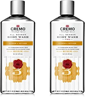 product image for Cremo Rich-Lathering Body Wash, A Citrus Scent with Notes of Grapefruit, Ginger and a Touch of Vetiver, 16 Oz (2-Pack)