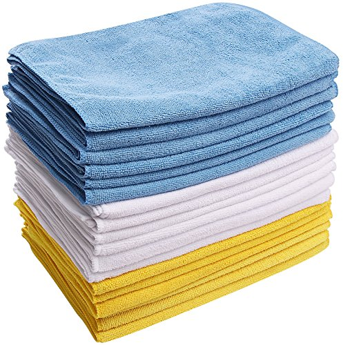 Utopia Towels Microfiber Cleaning Cloths (Pack of 48, 12 x 16 Inches) - Super Soft and Absorbent Multi-Purpose Non-Abrasive Towel