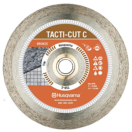 - Husqvarna Construction 542761257 4 by 0.060-Inch TSD-C Dri Disc Economical Tile and Stone Blade