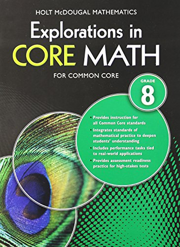 Explorations in Core Math: Common Core Student Edition Grade 8 2014