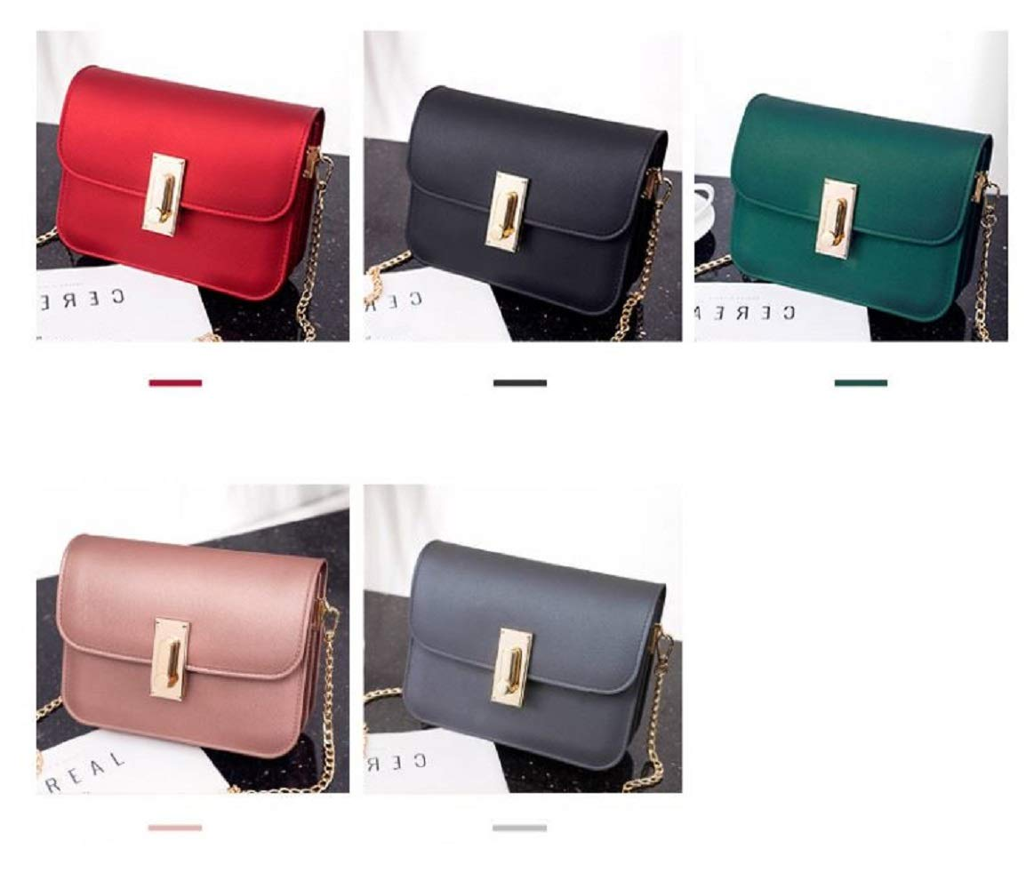 LF-JP PVC Evening bags for women [ Designer Clutch with Chain ] Shoulder Bag Cross body Purse (Red) by LF-JP (Image #9)