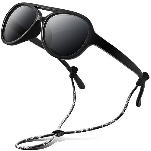 0cfa46a978 RIVBOS® rbk004 flexible de goma Niños anteojos de sol Wayfarer polarizadas  sombra para bebé y