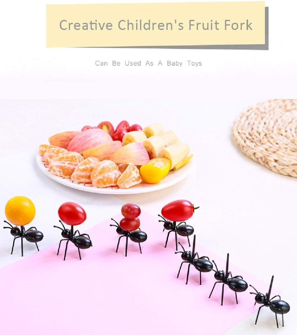 Cheap4uk 12 Pieces Plastic Cute Animal Design Mini Ant Fruit Picks Picker Forks for Kids Adult