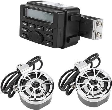Ebtools Motorrad Wasserdichte Audio Stereo Lautsprecher Fm Transmitter Radio Stereo Lautsprecher Mp3 Player Auto