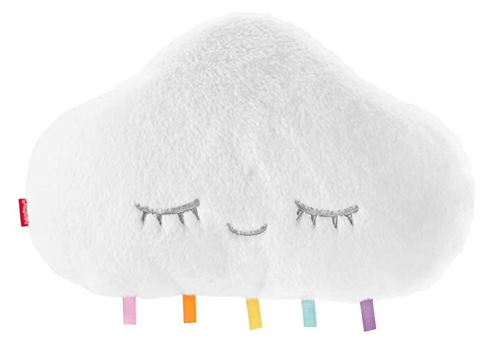 Fisher-Price Twinkle & Cuddle Cloud Soother, Plush Crib-Attach Baby Soother