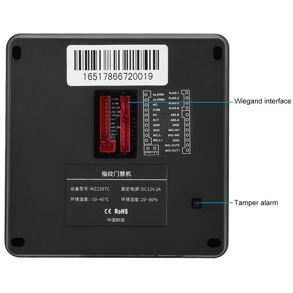 2.8 Pulgadas Tft Huellas Dactilares ID//IC Card Attendance Machine de Tiempo Control de Acceso Sistema de Asistencia Inteligente M/áquina Biom/étrica IC Card
