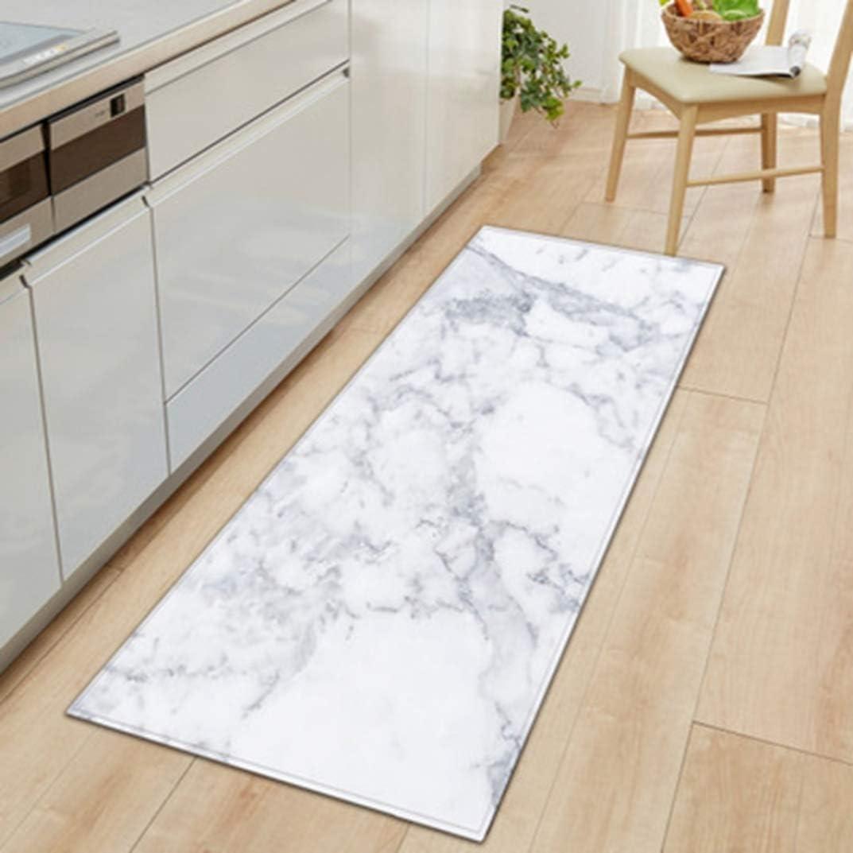 Badteppiche rutschfeste Marmor Gedruckt Eingang Fu/ßmatte Wohnzimmer K/üche Lange Fu/ßmatten