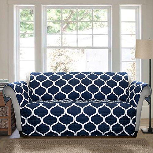 Lush Decor Geo Furniture Protector, Sofa, Navy