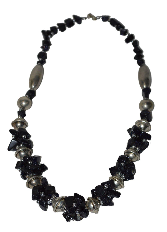 Moroccan Jewelry Berber Necklace Arabic Green Stones Black Stones