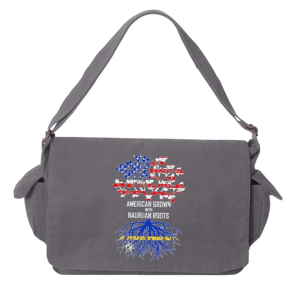 Tenacitee American Grown with Nauruan Roots Flamingo Raw Edge Canvas Messenger Bag