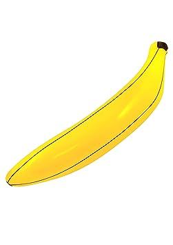 Henbrandt 80 - Banana Hinchable, Color Negro 3-Pack: Amazon.es ...