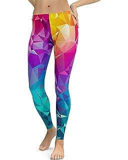 aae84498bd47d Striped Rainbow Leggings - Neon Rainbow Tights for Women at Amazon ...
