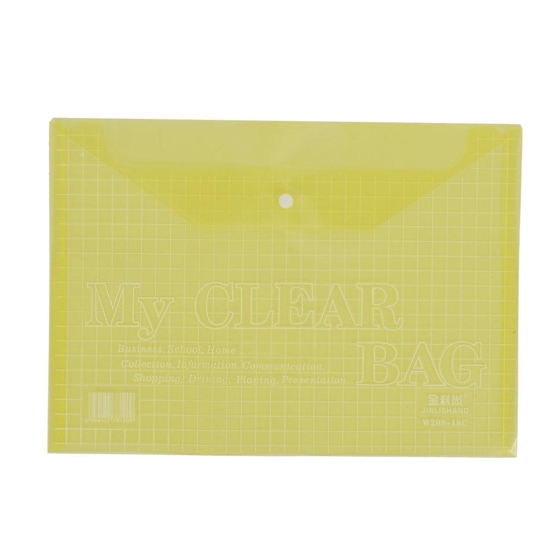 DealMux School Office A4 Document File Bags Holder Organizer 20pcs Yellow
