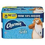 Charmin Ultra Soft Toilet Paper, Family Mega Roll, Pack of 36