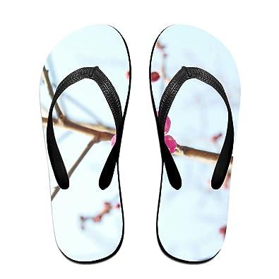 f943da3c1d76be Jinqiaoguoji Design Casual Plum Spring Flower Womens Sandals Beach Sandals  Pool Party Slippers Flip Flops