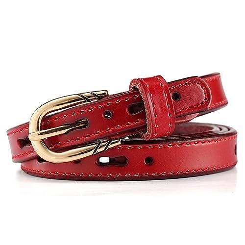 JIEJING Señoras Hueco de Pin hebillas Cinturón,Salvaje Simple Cinturón Elegante Decoración Cinturón-...