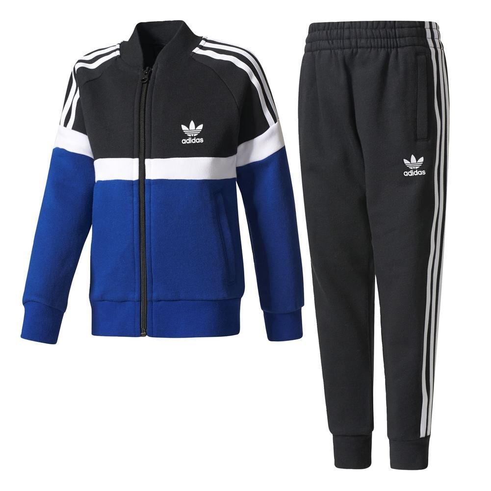 adidas Set – L TRF FL SST Schwarz/weiß/Blau Kinder 128/8 Jahre schwarz/weiß CE3227