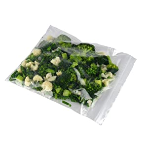 """Elkay F41315 4 mil Line Single Track Seal Top Bag, 2 Gallon Freezer Size, 13"""" x 15"""", Clear (Pack of 500)"""