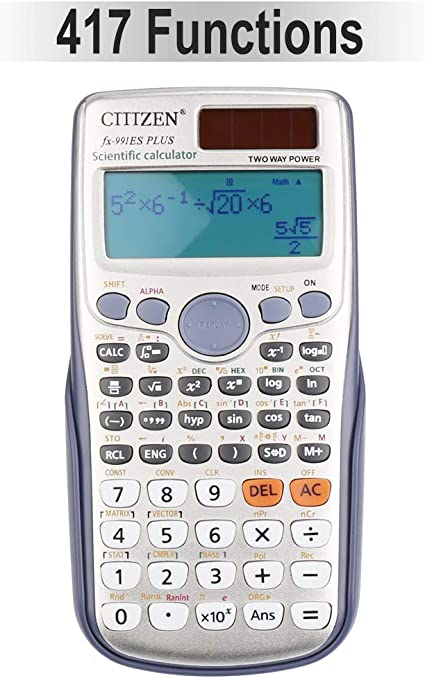 Urban Student Scientific Black Calculator DS-744A 224 Functions Eco Calc