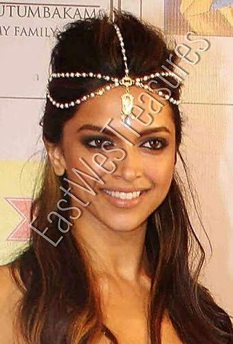 Amazon.com: EWT bollywood hair jewelry, Ethnic Indian bride bridal ...