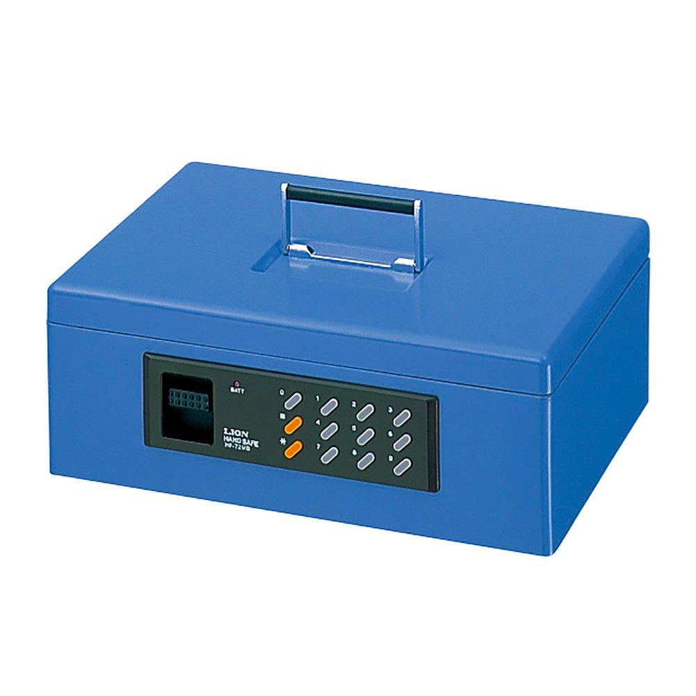 ライオン事務器 手提金庫 電子ロックキー Mサイズ HF-72MB-B ブルー B005J0XZ58 Mサイズ|ブルー ブルー Mサイズ