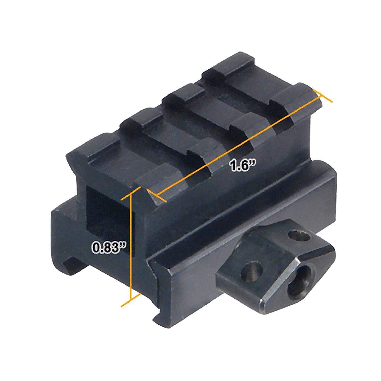 Lanceasy Riser Mount Med-PRO Compact Riser Mount 0.83 Pollici ad Alta 3 Slot Sight tessitore Riser Ferroviario 1 Pz