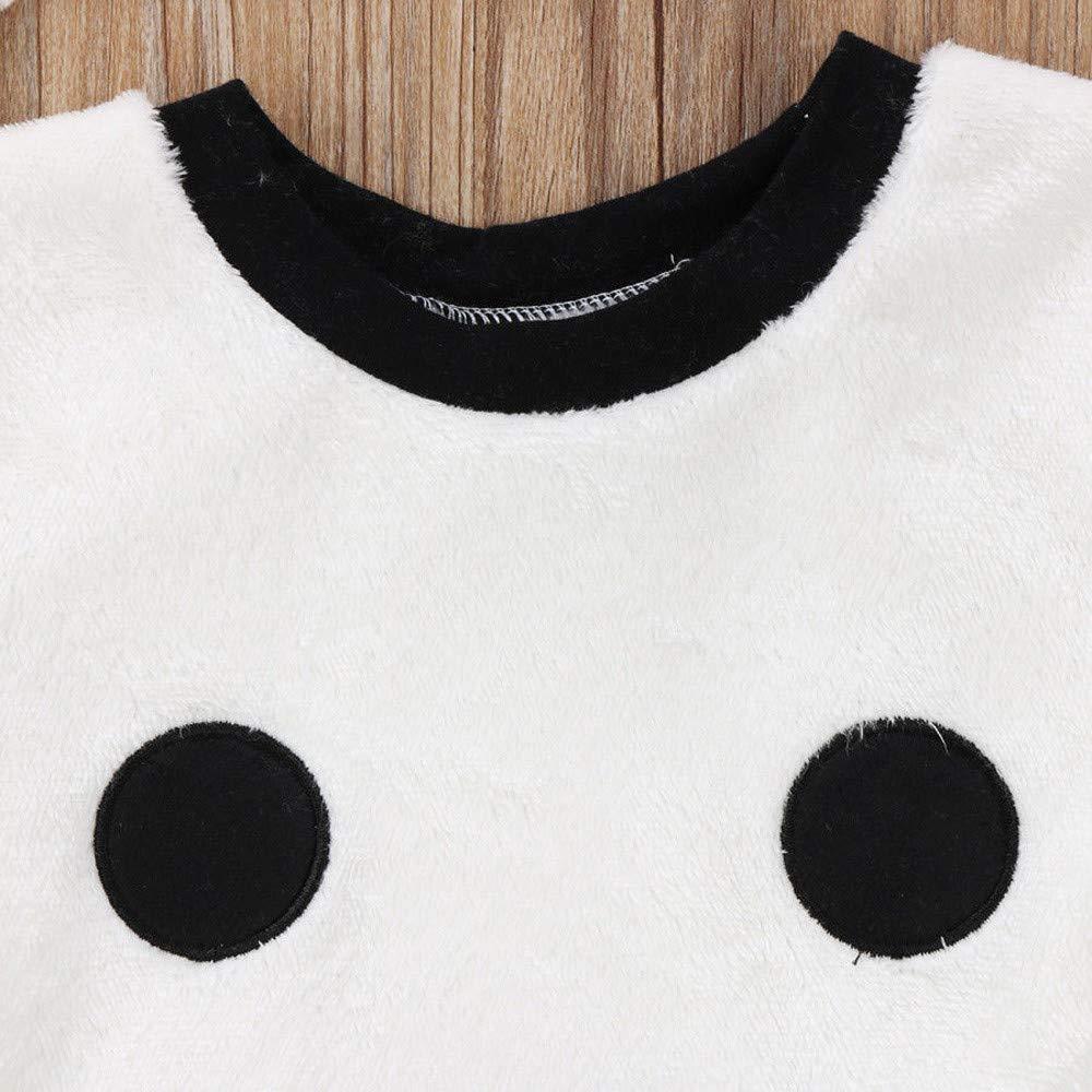 LANSKIRT Ropa para Recién Nacido Infantil bebé niños niñas Conjunto de impresión de Oso de Manga Larga Top + Pantalones + Sombrero Invierno 3PCS ...