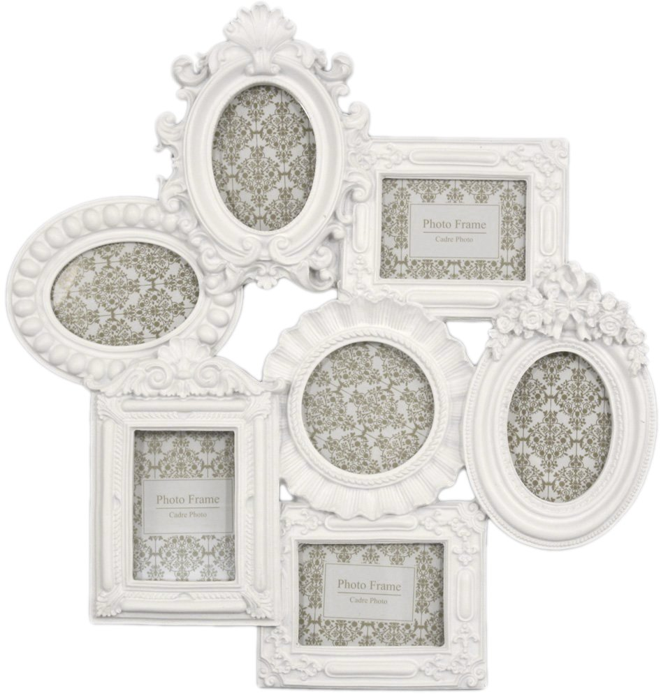 Ornate white multi photo frame moulded collage frame amazon ornate white multi photo frame moulded collage frame amazon kitchen home jeuxipadfo Images