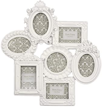 ornate white multi photo frame moulded collage frame
