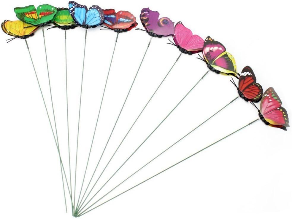 ultnice Artificial decorativa mariposas decoraci/ón de jard/ín ornamentos Carlos flor planta/ /10/piezas