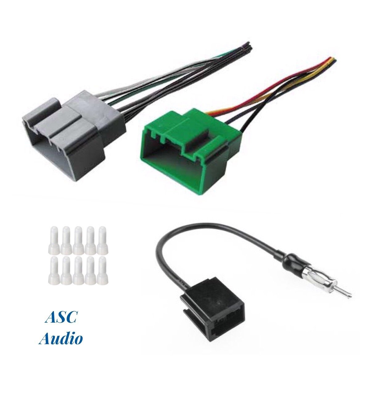 ASC Audio Car Stereo Radio Wire Harness and Antenna Adapter to Install an Aftermarket Radio for Volvo: 2000-2003 S40 / V40, 2001-2009 S60, 1999-2006 S80, 2001-2007 V70, 2003-2007 XC70 - No Premium Amp