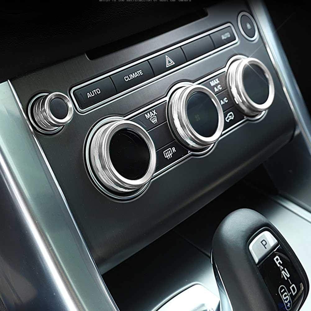 Fydun AC Air Conditioning Knob Zierblende Control Trim Klimaanlage Knob Cover AC Knob Decor 4 Teile//satz Fit f/ür Sport 2014-2017 Silber